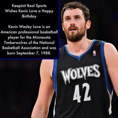 keepinitrealsports.com Kevin Love, Sports Birthday, Minnesota Timberwolves, Basketball Players, Tank Man, Birthdays, American, Mens Tops, Anniversaries