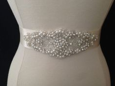 Hey, I found this really awesome Etsy listing at https://www.etsy.com/listing/150462000/bridal-sash-wedding-dress-sash-belt