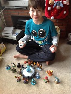 A boy and his Skylanders - what more could you ask for!