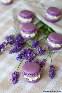 Lavender macaroons.