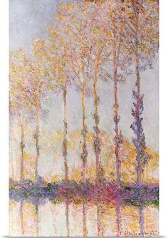 Poplars on the Banks of the Epte, 1891 (oil on canvas) by Claude Monet//