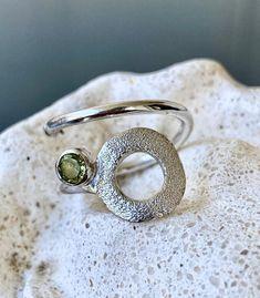 Circle ring gemstone ring silver ring peridot ring silver   Etsy Topaz Gemstone, Gemstone Rings, Birthstone Gems, Peridot Stone, Greek Jewelry, Geometric Jewelry, Silver Rings, Gemstones, Green Stone