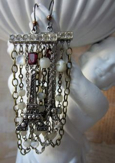 ivory towers earrings by The French Circus on Etsy