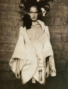 'Rainbow Warriors', Amber Valletta by Paolo Roversi, Vogue UK May 1996. Givenchy Spring Summer 1996 Haute Couture