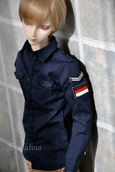 (Y68) military jacket coat uniform germany italy europe blue black white