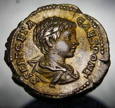 Publius Septimius Geta was born in AD 189 in Rome, as the younger son of Septimius Severus and Julia Domna. He most the likely possessed the same bad temper as his infamous brother Caracalla. Although it appears he was not as brutish.   eBay!