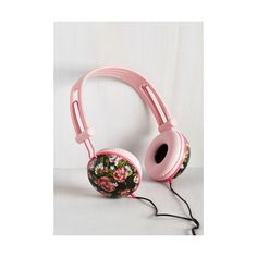 Pastel Swoons and Tunes Headphones (160 DKK) ❤ liked on Polyvore featuring accessories, tech accessories, tech, home, home accessory, music - audio, pink, sports headphones, pink headphones and sport headphones