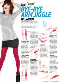 15-min arm sculpting circuit  (via Women's Health)
