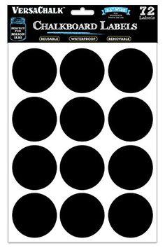 72 Round Chalkboard Mason Jar Labels for Canning, Pantry, Spice Jars & Freezer! Waterproof Black Vinyl Chalkboard Stickers are Ideal for Chalk Markers Inches Wide) Canning Labels, Pantry Labels, Jar Labels, Canning Jars, Chalkboard Mason Jars, Chalkboard Stickers, Chalkboard Labels, Chalk Labels, Personalized Mason Jars