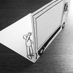 Ilustrações além da folha de papel, por HuskMitNavn - Um requisito para se tornar um bom ilustrador é ter uma criatividade afiada, como no caso de Javier Perez, que acrescenta objetos em suas ilustraçõ...