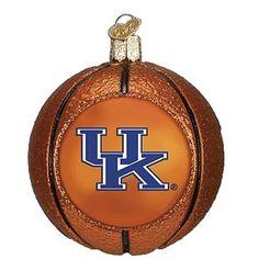 University of Kentucky Basketball Christmas Ornament 2012 NCAA Champions 62501 Merck Family Old World Christmas Kentucky Wildcats Basketball ornament measures approximately