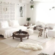 ❤️ key to making white cosy - textures, different shades of white & cream, and having brown and green highlights