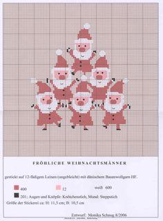 Cross stitch Santa pattern