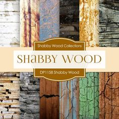 Shabby Wood Digital Paper DP1158 - Digital Paper Shop - 1