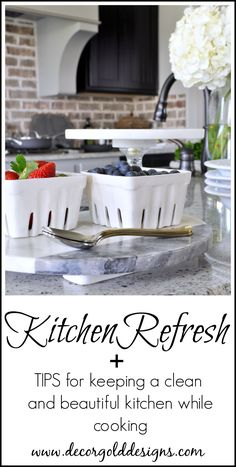 Kitchen cleaning and beautifying tips