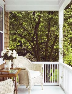 for a small porch space - I need a tall focal point like the flowers