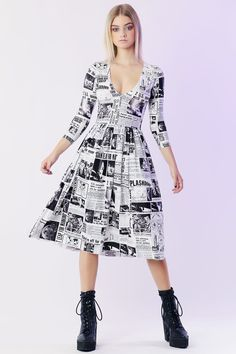 Moon Landing Sleeve Dress - Limited - My Boyfriend's an Alien - Collections Cocktail Dresses Online, Shiny Fabric, Dresses Online Australia, Black Milk Clothing, Moon Landing, 3 4 Sleeve Dress, Fall Dresses, Get Dressed, New Outfits