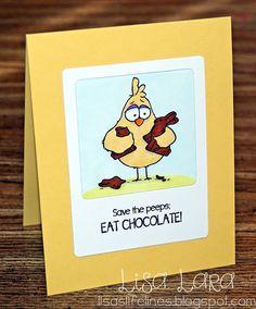 Lisa's Life Lines: Save the peeps: EAT CHOCOLATE!