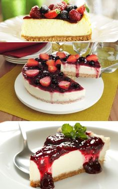 Discover recipes, home ideas, style inspiration and other ideas to try. Cheesecake Facil, Easy No Bake Cheesecake, Baked Cheesecake Recipe, Homemade Cheesecake, Strawberry Cheesecake Bites, Fruit Cheesecake, Strawberry Recipes, Easy Cake Recipes, Sweet Recipes