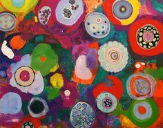 Abstract bij schilders