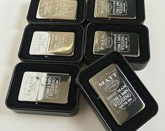 Groomsmen gift set - 6 Personalized lighters - 6 Groomsmen gifts - Bridesmaid Wedding gifts -6 Best man Wedding gifts - Laser engraved