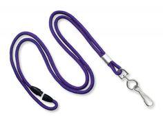 2137-2010 Purple Round Break-Away Lanyard with NPS Swivel Hook