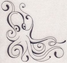 Inky Octopus Corner design (M6598) from www.Emblibrary.com