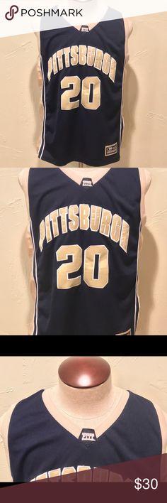 640f8b375 Pittsburgh Panthers Basketball Jersey Mens Size XL Pittsburgh Pitt Panthers  Colosseum Sewn  20 Basketball Jersey