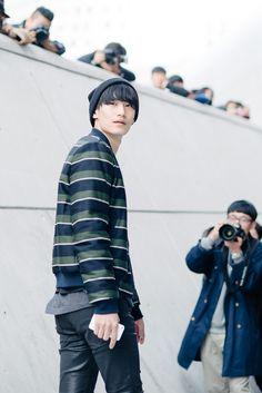 Street style:Kim Tae Hwan at Seoul Fashion Week Spring 2015 shot by Alex Finch