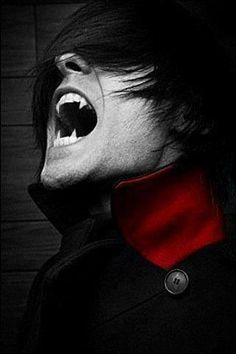 this is actually a pic of Jared Leto with vampire fangs added - WANT! Male Vampire, Vampire Fangs, Vampire Love, Vampire Art, Black Vampire, Christian Grey, Bmth Songs, Romance Paranormal, Manga Anime