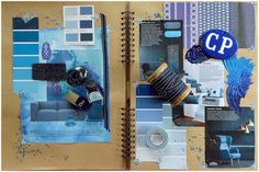 Mademoiselle Poirot - blue mood board