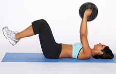 """HowStuffWorks """"How to Do a Medicine Ball Reverse Crunch"""""""