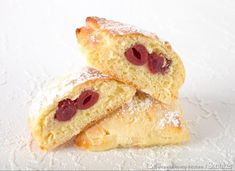 Koperty z budyniem i wiśniami - przepis ze Smaker.pl Sweet Little Things, Cake Cookies, Recipies, Food And Drink, Sweets, Ethnic Recipes, Html, Waffles, Cherries