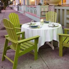 Plastic Wood South Beach Adirondack Dining Chair Classic #AdirondackChairs #OutdoorFurniture #CozyDays