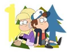 Dipper Pines and Pacifica Northwest by 6anako.deviantart.com on @DeviantArt