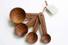 Check out the Teak Measuring Spoons in Kitchenware, Scales & Measuring from Merchant No. 4 for Kitchen Items, Kitchen Utensils, Kitchen Tools, Kitchen Gadgets, Kitchen Stuff, Kitchen Kit, Kitchen Products, Wooden Kitchen, Kitchen And Bath