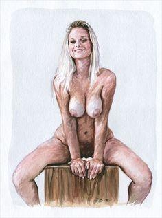 Etudes de nu à l'aquarelle #160174 et #160175... #Art #Artiste