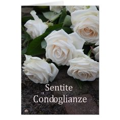 Shop italian Sympathy Sentite Condoglianze Card created by therosegarden. Online Greeting Cards, Custom Greeting Cards, Italian Words, Thoughtful Gifts, Christmas Cards, Thoughts, My Love, Flowers, Prints