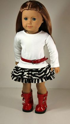 American Girl Doll ClothesRuffles Skirt Shirt by sewurbandesigns, $22.00