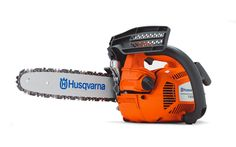 Husqvarna T435. Lightweight powerful tree care saw for tree pruning from the ground or up in a sky lift.
