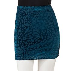 Mudd Burnout Velvet Body Con Skirt