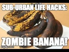 Put frozen bananas in rice for an hour to take moisture out......How To Rejuvenate Overripe Bananas With A Hair Dryer