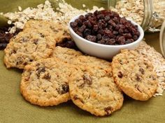 Free of gluten and all top allergens. Oat Cookies, Oatmeal Raisin Cookies, Candy Recipes, Cookie Recipes, Dessert Recipes, Cookie Desserts, No Bake Desserts, Donuts, Biscuits