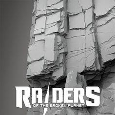 Arid rocks & cliffs - Raiders of the broken planet, Daniel Castillo on ArtStation at https://www.artstation.com/artwork/GnXvB