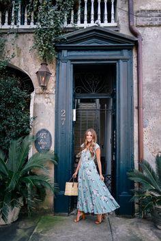 Gal Meets Glam Floral Maxi Dress - Bandolino heels & Global Goods bag c/o Macy's