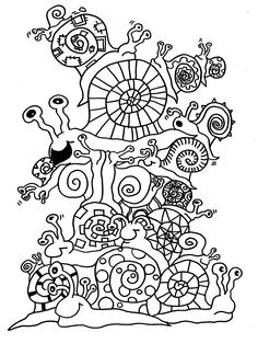 Coloring pages in detail Coloring Pages For Grown Ups, Coloring Book Pages, Coloring Pages For Kids, Fall Crafts For Kids, Diy For Kids, Painting For Kids, Painting & Drawing, Doodle Coloring, Do It Yourself Crafts
