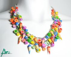 Colored pencil jewelry by ABRUshop on Etsy • So...  