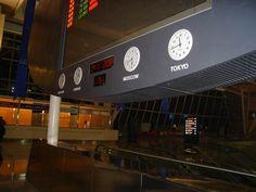 Bodet clock installed at Ankara Esenboğa Airport.