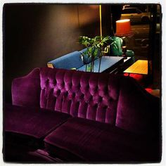 The Famous Purple Velvet Couch