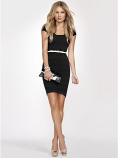 GUESS Pointelle Knit Dress - I love everything about this!